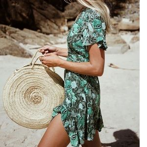 NWT Spell Designs Winona mini dress in Ivy